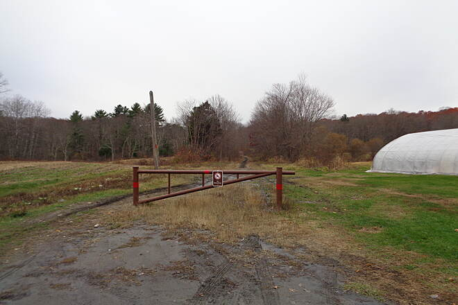 Southern New England Trunkline Trail Spring St. Franklin looking W SNETT looking west from Spring St. in Franklin on 11/16/14.