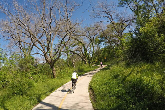 Southern Walnut Creek Trail Wooded Areas The wooded areas of the trail are beautiful in all of the seasons.