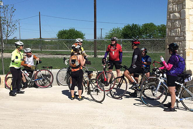 Southern Walnut Creek Trail Daffan Lane Turnaround The end of the trail near Manor, TX, before the next phase is built.