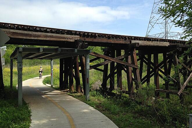 Southern Walnut Creek Trail RR Underpass It's a rail-trail after all!
