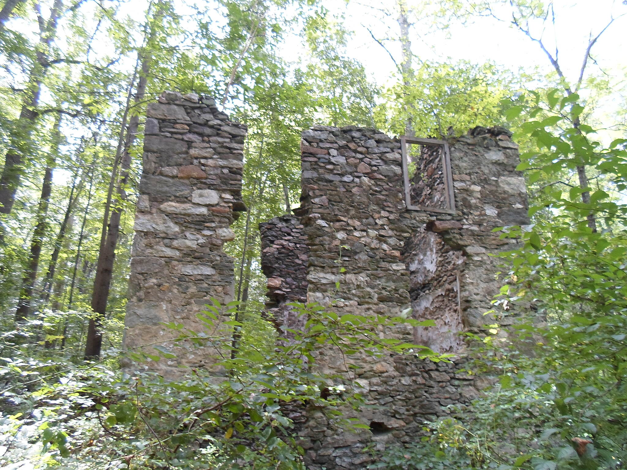 Springlawn Trail Springlawn Trail Another view of the ruins of the old stone house. Taken Sept. 2016.