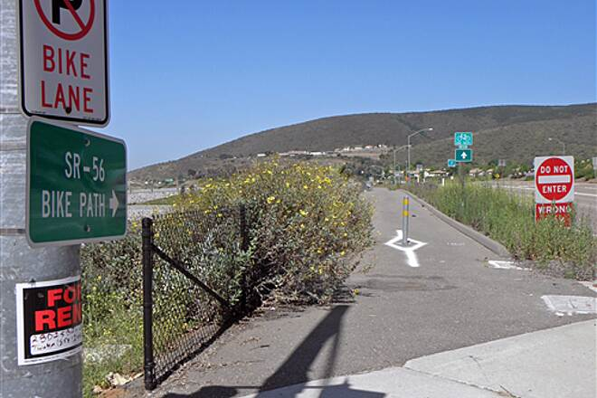State Route 56 Bike Path  Eastern end point of trail