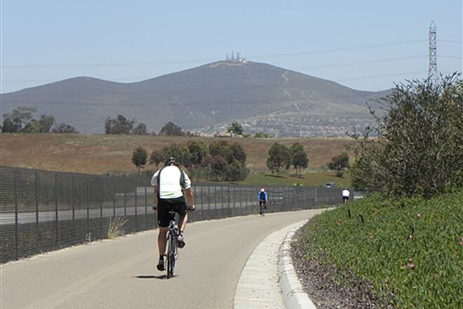 State Route 56 Bike Path  Black Mountain is in view much of the time as you ride east.