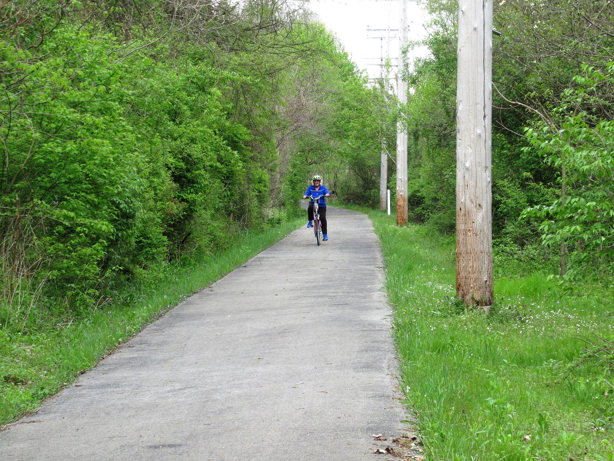 Stavich Bicycle Trail Cyclist on the trail Cyclist along the trail near mile 0 in PA