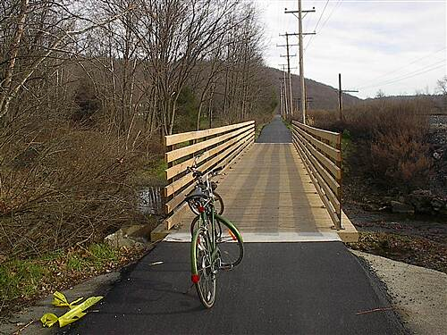 Stavich Bicycle Trail new bridge  bridge