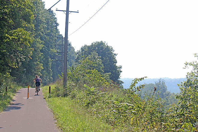 Stavich Bicycle Trail Stavich Bicycle Trail many ups and downs on this trail