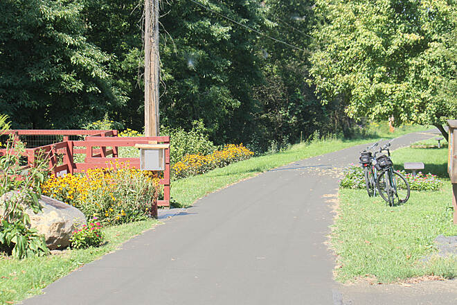 Stavich Bicycle Trail Stavich Bicycle Trail PA trailhead