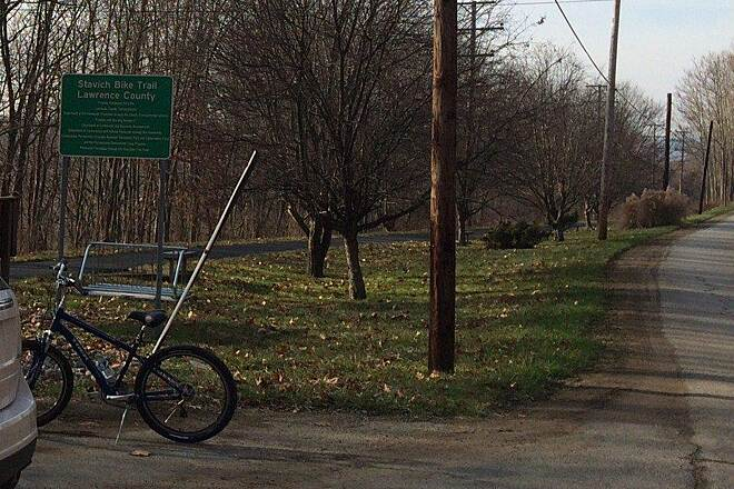 Stavich Bicycle Trail Parking Area Parking area in New Castle.....December 2014