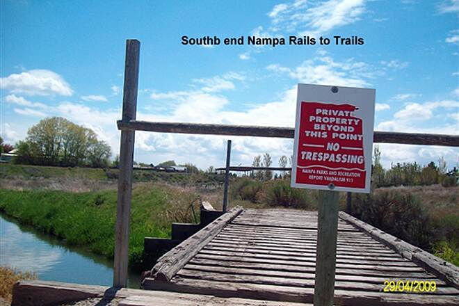 Stoddard Pathway Nampa Parks Rails to Trails South End of trail