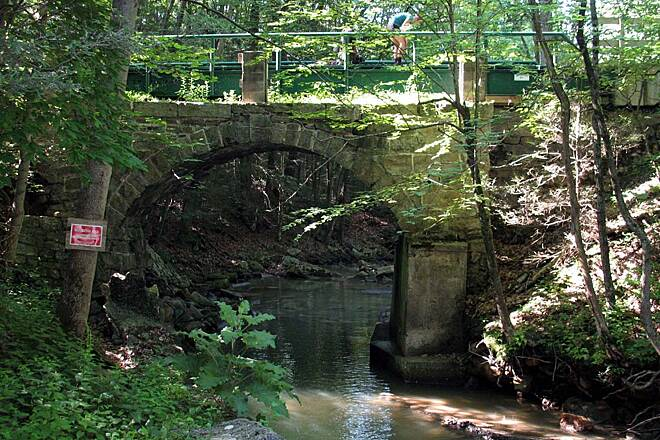 Stony Valley Railroad Grade Stone Bridge at Rausch Gap