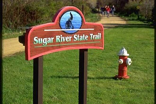 Sugar River State Trail Sugar River State Trail Albany is located on the Sugar River State Trail. Oak Hill Manor is a quarter-mile from the trail rest area.