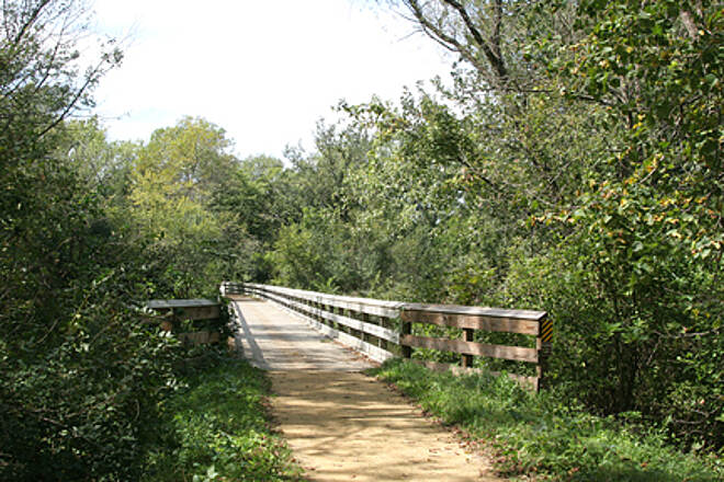 Sugar River State Trail Sugar River Trail One of 14 wooden plank bridges you'll encounter along the trail
