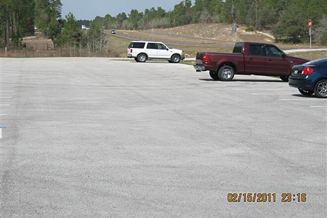 Suncoast Trail   Northern end has large parking lot &  a picnic table.