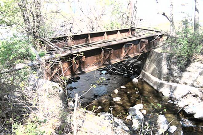 Sussex Branch Trail  Old train bridge in branchville at the end of the trail