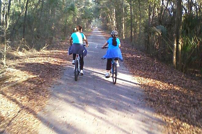 Suwannee River Greenway at Branford Side by Side Along the trail in the Brandford area.