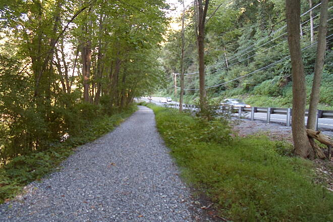 Swatara Rail-Trail Swatara Rail-Trail The trail closely follows Route 72 for most of its length, so you are never far from civilization. Taken Aug. 2015.