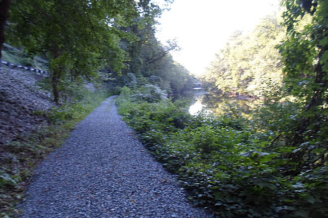 Swatara Rail-Trail Swatara Rail-Trail The road (Route 72), trail and creek are all clearly visible, side by side, in this pic. Taken Aug. 2015.