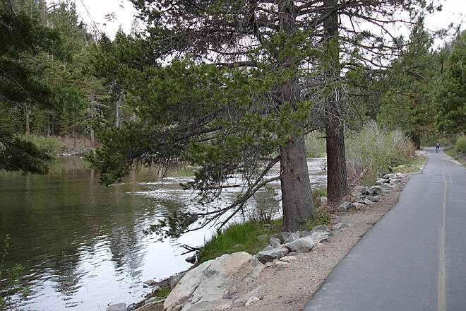 Tahoe Trailways Bike Path   The trail follows the Truckee River, the only tributary to flow out of Lake Tahoe.