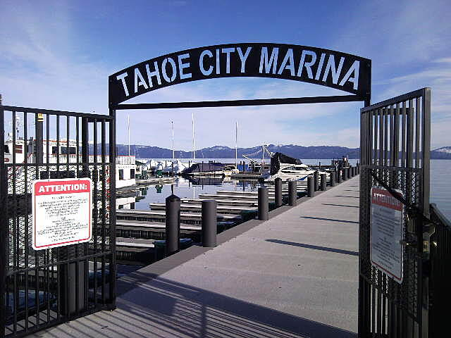 Tahoe Trailways Bike Path Tahoe City Marina Along the trail is the Tahoe City Marina.  Public access is allowed portions of the pier.
