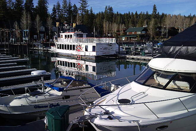 Tahoe Trailways Bike Path Tahoe Gal Paddlewheeler The Tahoe Gal is a lake excursion sidewheeler and operates out of the Tahoe City Marina.