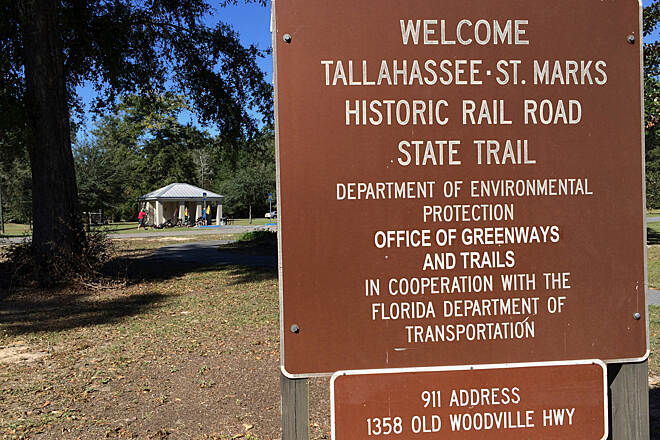 Tallahassee-St. Marks Historic Railroad State Trail Wakulla Trailhead Wakulla Trailhead, 6.5 miles North of St Marks (southern end)