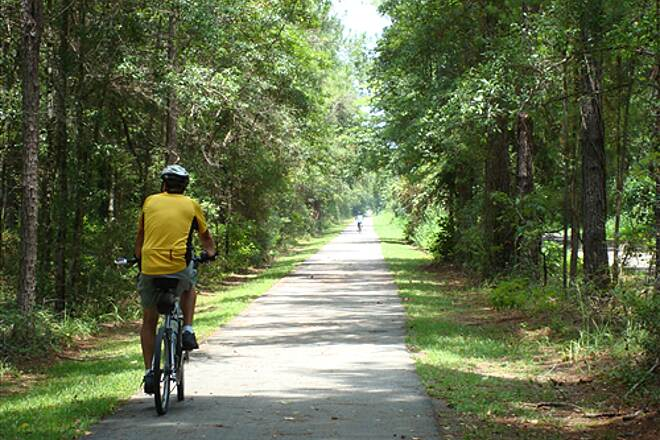 Tallahassee-St. Marks Historic Railroad State Trail Tallahassee - St. Marks Historic Railroad State Trail That's Mick waaayyyyy down the trail!