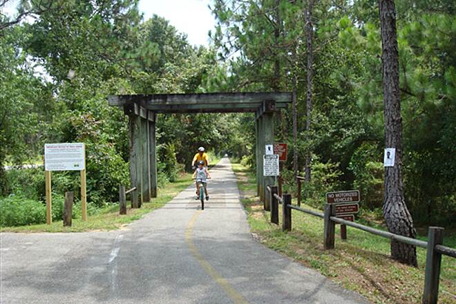Tallahassee-St. Marks Historic Railroad State Trail Tallahassee - St. Marks Historic Railroad State Trail Arriving at the Tallahasse Trailhead - 9 miles one-way!