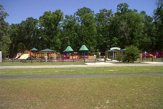 Tallahassee-St. Marks Historic Railroad State Trail Wakulla playground A very nice playground for the kids at Wakulla Station