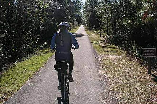Tallahassee-St. Marks Historic Railroad State Trail Flat and straight
