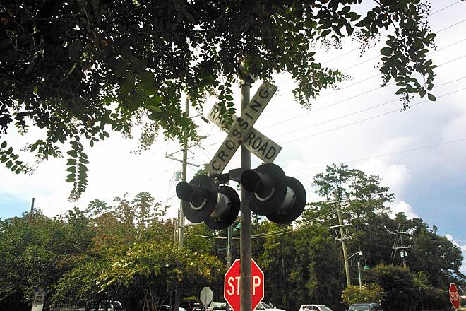 Tammany Trace crossing at Mandeville