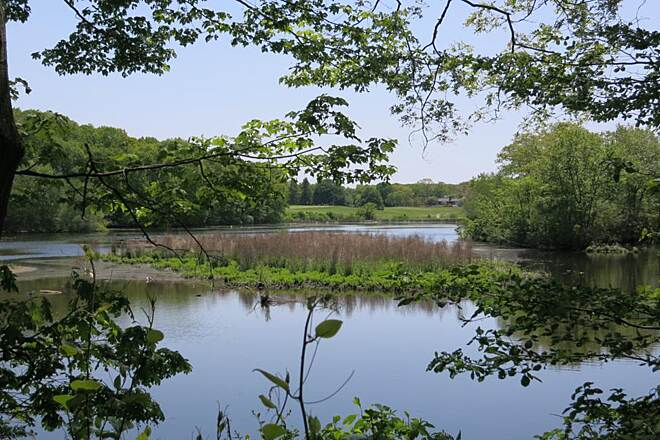 Ten Mile River Greenway scenic water view