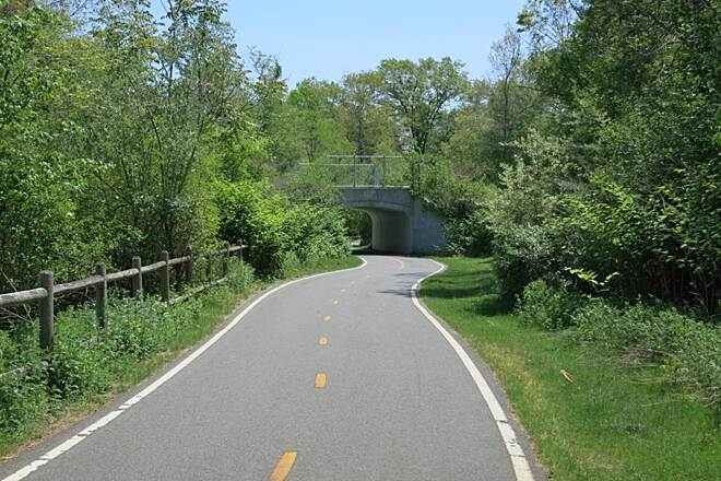 Ten Mile River Greenway tunnel ahead