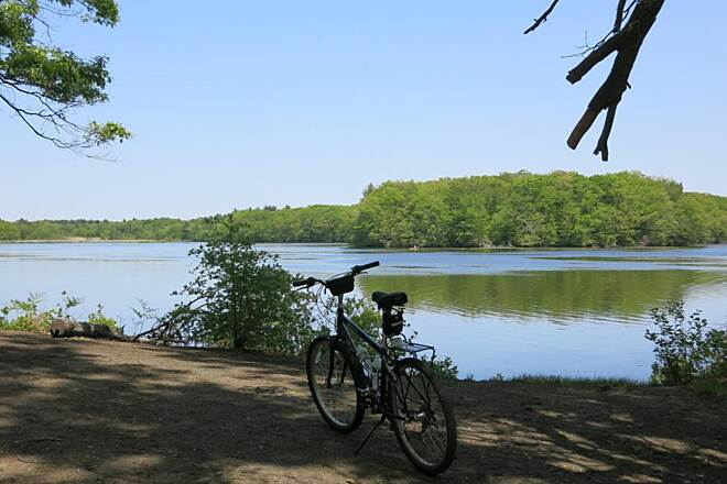 Ten Mile River Greenway reservoir view