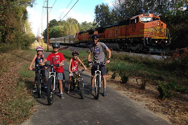 Tennessee Central Heritage Rail Trail Oct. '16 Grand Opening Day of 4.23-mile section between Algood & Cookeville Truly a Rail-with-Trail, the Tennessee Central Heritage Rail Trail is family friendly, BUT does require trail users to be watchful of infrequent train traffic and some roadway crossings.  Enjoy and push for trail expansion.