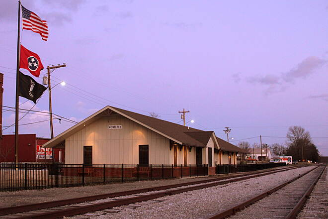 Tennessee Central Heritage Rail Trail Monterey Depot Museum The Monterey depot is situated on a half-mile segment of the growing Tennessee Central Heritage Rail Trail, which will one day stretch 19 miles west to Cookeville. Photo courtesy of Brent Moore, SeeMidTN.com.