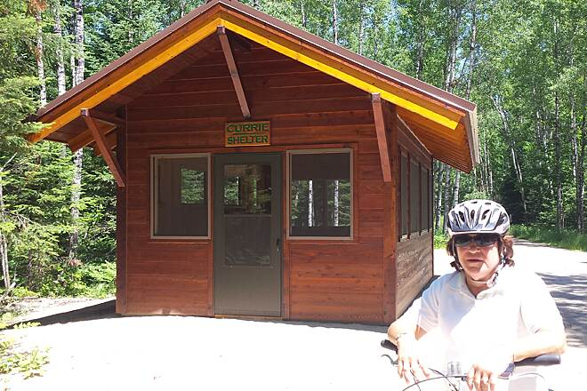 Three Eagle Trail Shelter on the trail