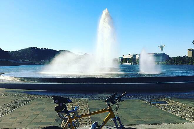 Three Rivers Heritage Trail The Fountain at the Point Pittsburgh Pennsylvania Bicycle Trail
