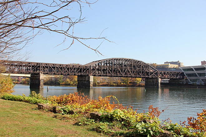 Three Rivers Heritage Trail Railroad Bridge Crossing Over the Allegheny River to 11th St.