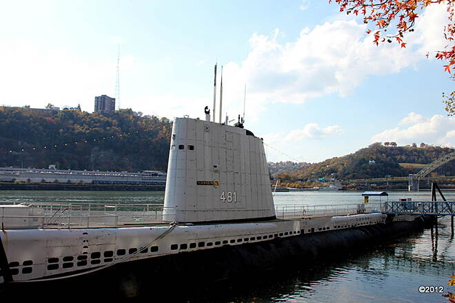 Three Rivers Heritage Trail USS Requin Submarine in Front of the Carnegie Science Center