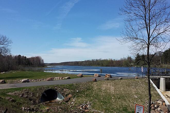 Tomorrow River State Trail Ogdensburg Pond A nice place to stop along the trail.