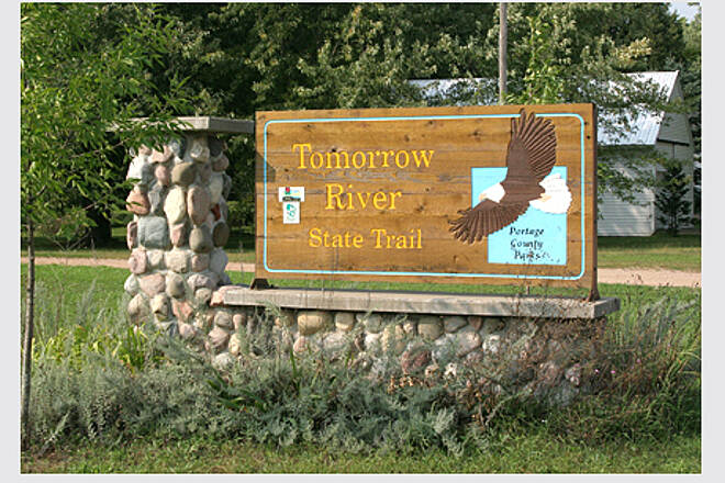 Tomorrow River State Trail Tomorrow River Trail Trail head on HWY Q Amherst Jnc.
