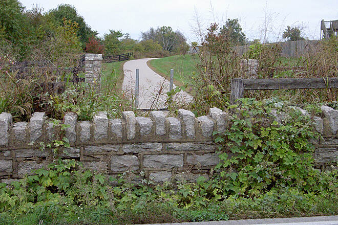 Town Branch Trail (KY) End Phase II Oct 2014 Stone wall from along Alexandria Dr