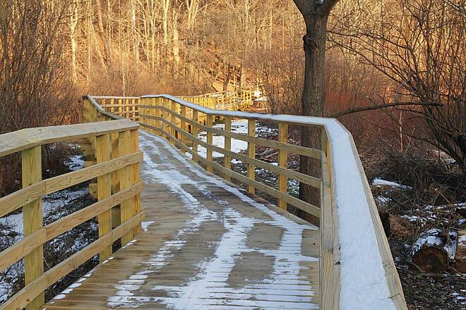 Trolley Trail (PA) Trolley Trail They built a beautiful boardwalk