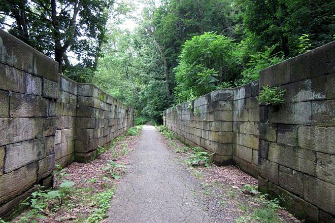 Trout Island Trail old Lock - June 2015 Old lock near the trail, Erie Canal Extension.