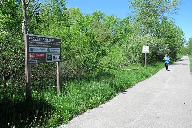Trout Island Trail Nice flat paved trail Flat paved trail great for running.  May, 2019.