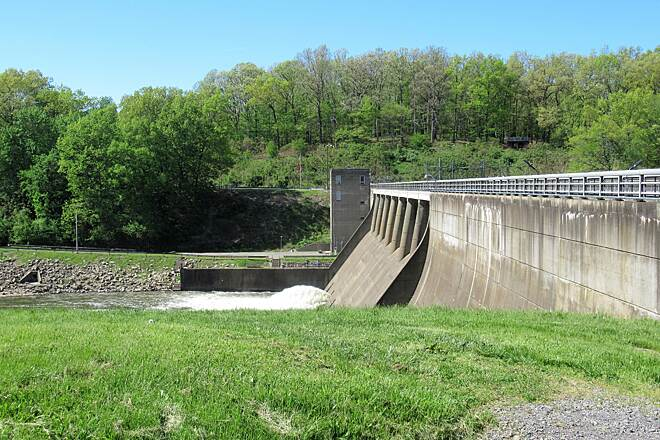 Trout Island Trail May 2019 the Shenango Dam Shanango Dam, May 2019.  Just off the trail.