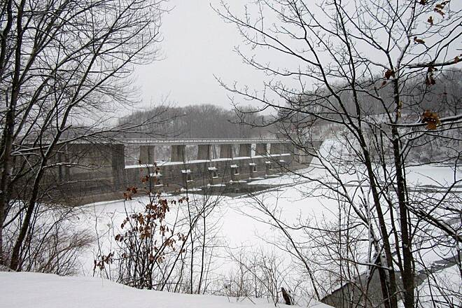 Trout Island Trail Dam Shenango Dam - February 2015
