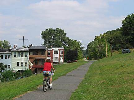 Uncle Sam Bikeway Uncle Sam Bikeway Near its southern terminus, the trail passes through an urban residential and light industrial area.