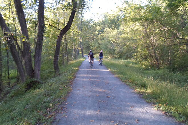Union Canal Trail Union Canal Trail Cyclists enjoying an early autumn evening on the trail in Sept. 2014.