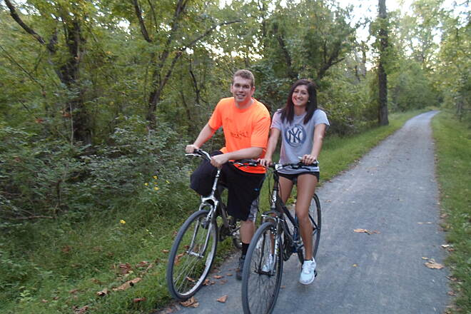 Union Canal Trail Union Canal Trail Couple taking a leisurely bike ride near Lock #47 in early fall. Taken Sept. 2014.